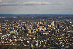 Yale School of Medicine - Yale's medical campus and The Hill neighborhood from the south
