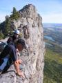 Yamnuska top of climbing route.jpg