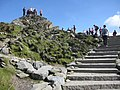 Yr Wyddfa summit and the new steps - geograph.org.uk - 1491332.jpg