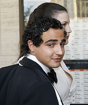 Fashion designer Zac Posen, standing in front ...