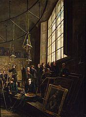 Interior of the Fine Arts School in Warsaw.