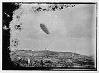 Zeppelin (i.e., Graf Zeppelin) over Jerusalem. LOC matpc.04721.jpg