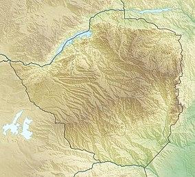 Map showing the location of Zambezi National Park