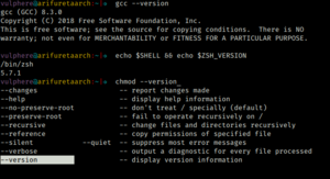 Screenshot of a Zsh session