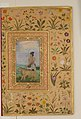"""Dervish With a Lion"", Folio from the Shah Jahan Album MET DP164662.jpg"