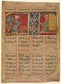 """Khizr Comes to the Ascetic's Cell"", Folio from a Khamsa (Quintet) of Amir Khusrau Dihlavi MET DP246515.jpg"