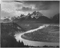 """The Tetons - Snake River,"" Grand Teton National Park, Wyoming., 1933 - 1942 - NARA - 519904.tif"