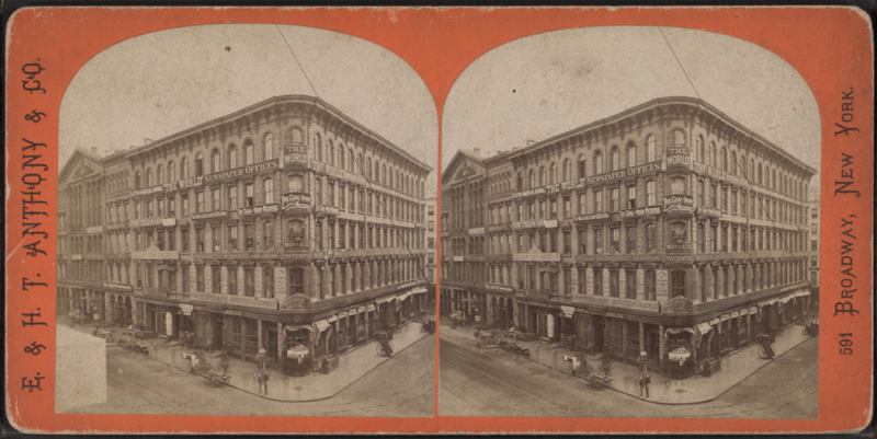 """File:""""Times"""" and """"World's"""" buildings, from Robert N. Dennis collection of stereoscopic views.png"""