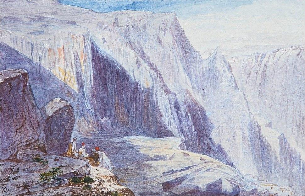 'Delphi' by Edward Lear, watercolor, 12 by 19 cm.