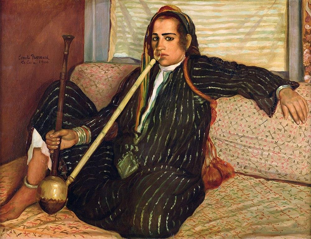 Émile Bernard : La fumeuse de Haschisch (1900).