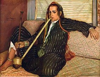 Cannabis culture - Image: Émile Bernard La fumeuse de Haschisch 1900