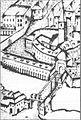 Špitalski kompleks z mesnicami in Špitalskim mostom 1660.jpg