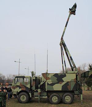 """Giraffe radar - M85 """"Žirafa"""" on chassis of FAP 2026 by Serbian Army"""