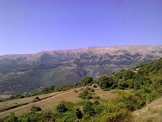 Menoikio - A close view of Mount Menoikio, from its foothills 8 km to the north-east of Emmanouil Pappas.