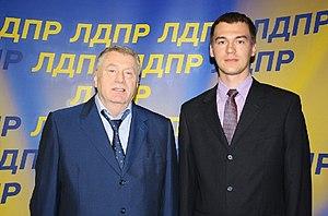 Mikhail Degtyarev - Degtyarev with Vladimir Zhirinovsky