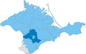 Simferopol Raion - Image: Карта схема Крыма Симферопольский район