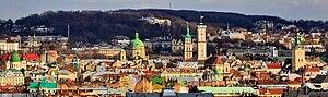 Панорама центральної частини Львова (2008)