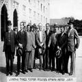קבוצת סופרים בקונגרס הציוני באזל 1927. מימין לשמאל- 1- זלמן שניאור 3. מנחם אוס-PHZPR-1256500.png