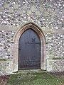 -2019-01-25 Door, west facing elevation of Saints Peter and Paul, Edgefield, Norfolk.JPG