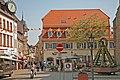 00 6027 Bad Bergzabern, Marktplatz mit Marktbrunnen.jpg