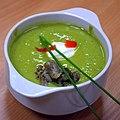 02016 0793 Beskidische Grüne Creme-Suppe mit Weißwurst, Ostergerichte , Schlesische Beskiden 2016-03-21 19-26-33.JPG
