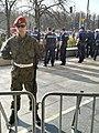 09-04-2018 Odsłonięcie pomnika na Pl. Piłsudskiego - obstawa policji i żandarmerii.jpg