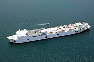 Hospital ship - United States Navy hospital ship USNS Comfort in 2009.