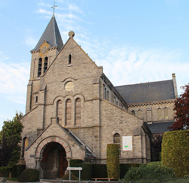 Lesdain (Belgium), the Saint Eleutherius' church.