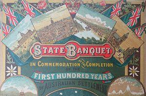 Australia Day - 100th anniversary celebration of Australian settlement, 26 January 1888