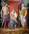 1498 Mantegna Maria mit dem Kind und den Heiligen Magdalena und Johannes dem Täufer National Gallery (London) anagoria.jpg
