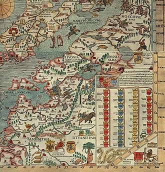 Varniai - Image: 1539 Samogethia and Lituania