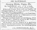 1824 canary ColumbianCentinel Nov10.png