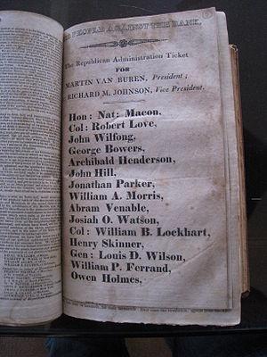 Josiah Ogden Watson - 1836 Campaign Pamphlet for Van Buren