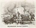 1845, Historia de Cabrera y de la guerra civil en Aragón, Valencia y Murcia, Los carlistas atacan a Gandesa.jpg