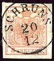1850 KK 3kr typeIa Schruns.jpg