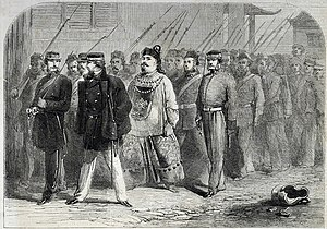 Second Opium War - The capture of Ye Mingchen after the fall of Canton