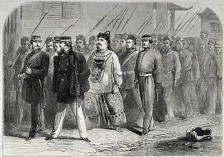 The capture of Ye Mingchen after the fall of Canton 1858, Canton Commissioner Yeh Men.jpg