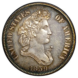 Indian Head cent - Cornelius Vermeule thought the Indian Head cent was better than Longacre's 1859 pattern half dollar.