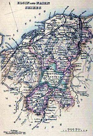 County of Moray - Image: 1861 MORAYSHIRE (Elginshire) & NAIRNSHIRE