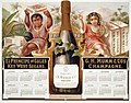 1876 calendar for El Principe de Gales Key West Segars and G.H. Mumm & Co.'s Champagne, showing boy holding box of cigars and girl holding grapes and champagne glass LCCN97517358.jpg