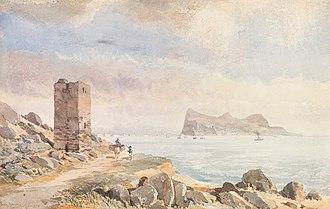 John Miller Adye - Image: 1884 John Miller Adje Governor of Gibraltar View of Gibraltar