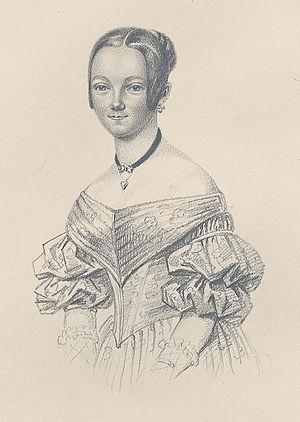 Malla Höök - Amalia Höök by Maria Röhl 1839.