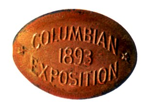 Elongated coin - The first elongated coins were made by a die and metal rollers.