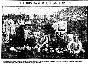 1901 St. Louis Cardinals season - Image: 1901 St Louis Cardinals Team