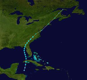 1902 Atlantic hurricane season - Image: 1902 Atlantic tropical storm 1 track