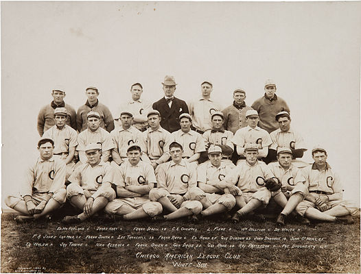 1906 White Sox, with club founder Charles Comiskey 1906 Chicago White Sox.jpg