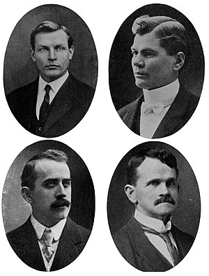 1911 Brigham Young University modernism controversy - The four professors at the center of the controversy: Joseph and Henry Peterson (top row) and Ralph and W. H. Chamberlin (bottom)