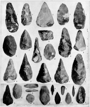 Morphology (archaeology) - Paleolithic stone tools grouped by period, in the groups of a century ago