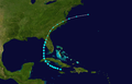 1947 Atlantic tropical storm 6 track.png