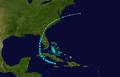 1947 Atlantic tropical storm 6 track.png